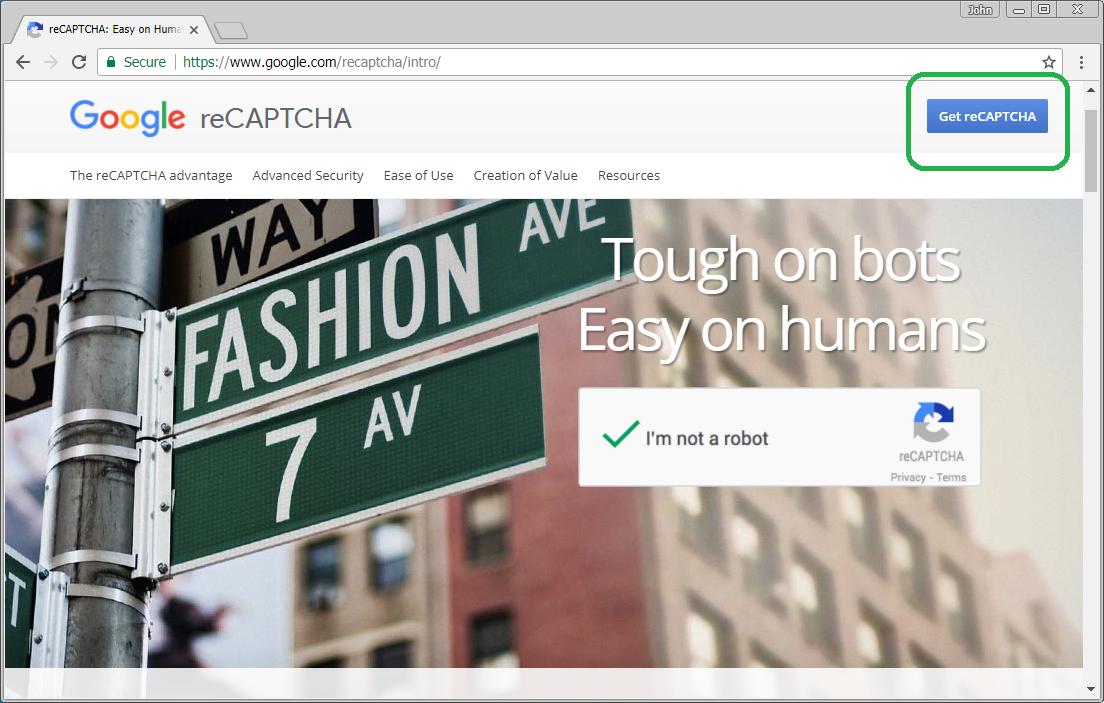 Get reCAPTCHA