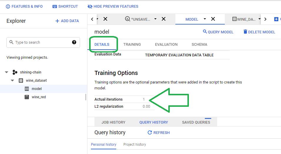Default Training Options