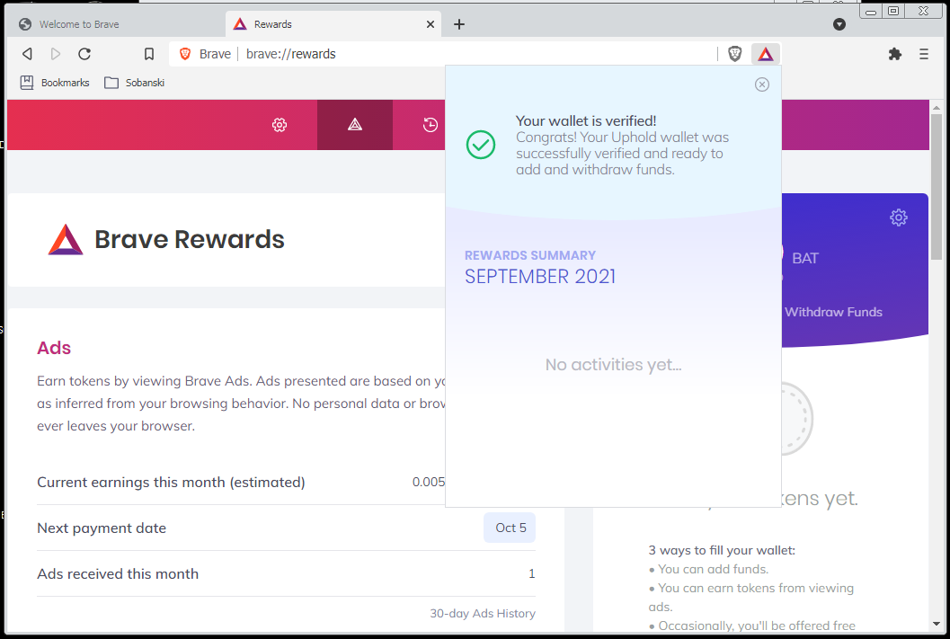Your verified Wallet