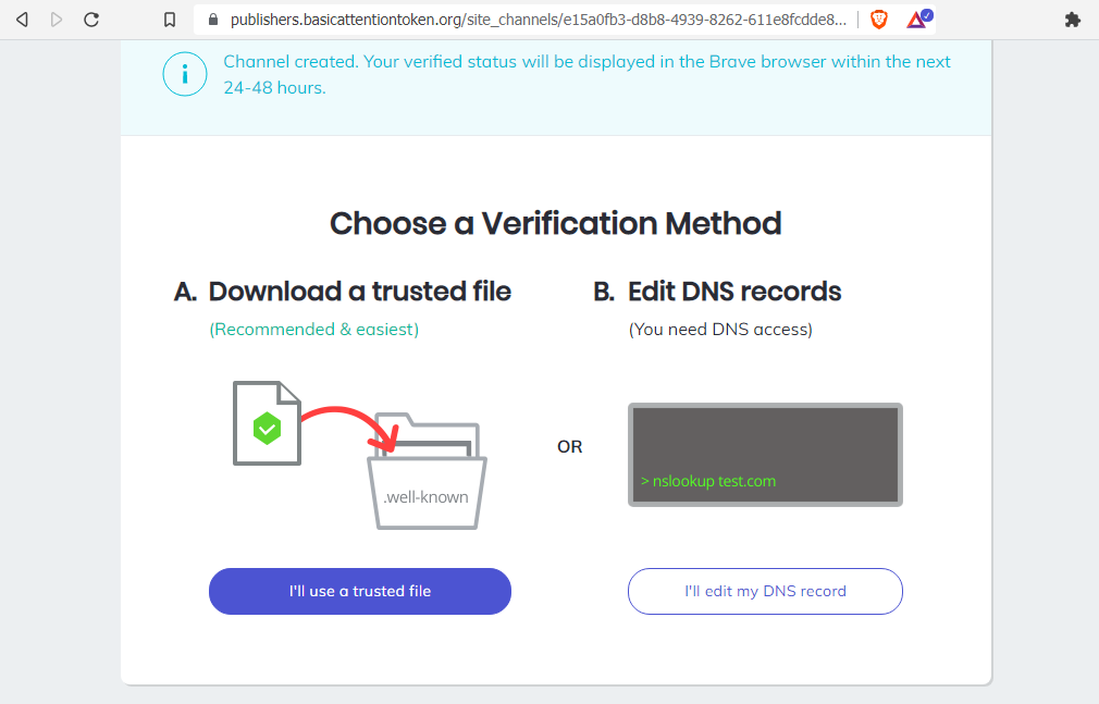 Download the Verification File