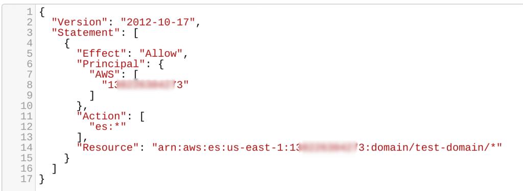 Connect AWS Lambda to Elasticsearch