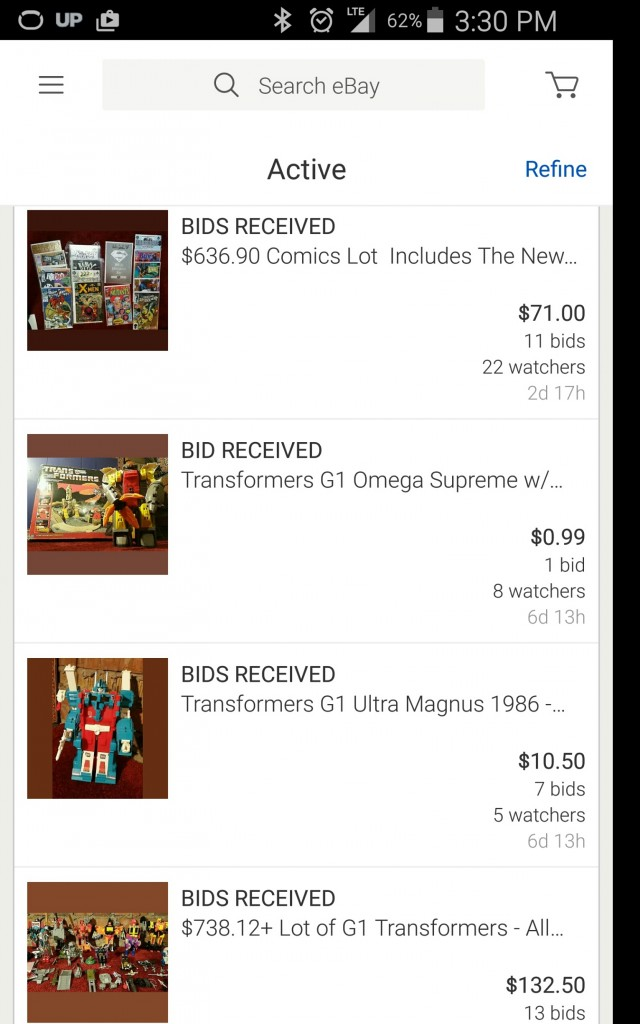 Selling Childhood Transformers