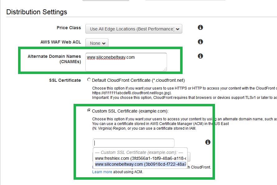 Set CNAME and TLS Certificate