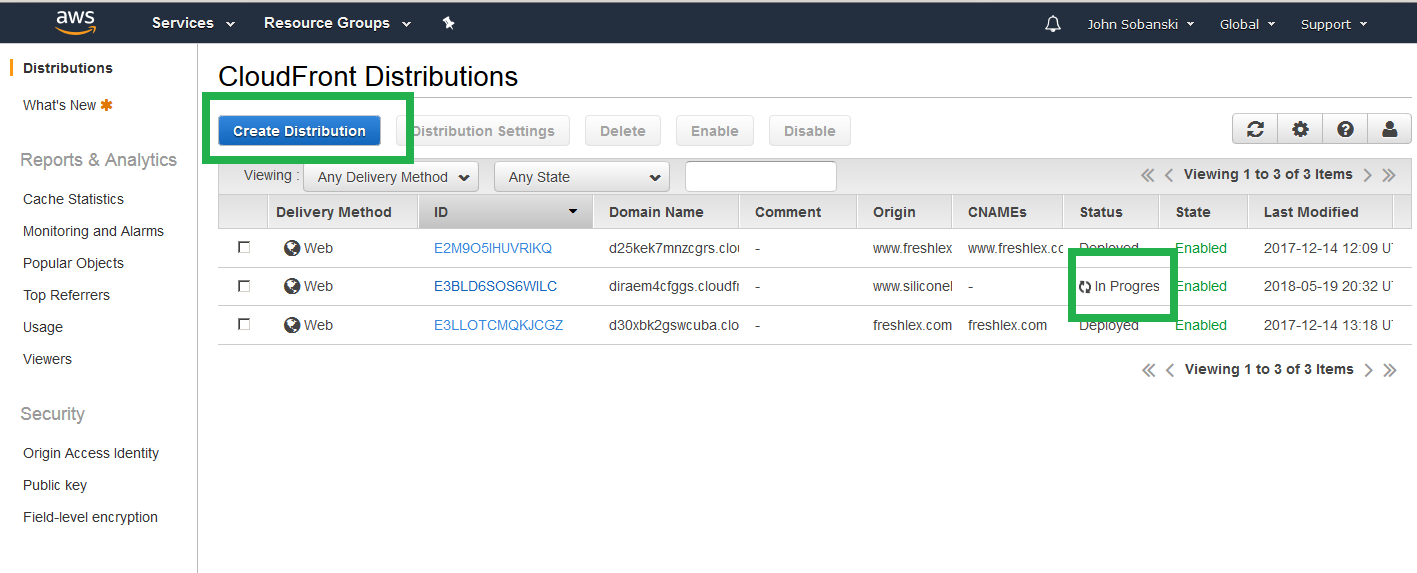 View Progress And Create Naked Domain Distribution
