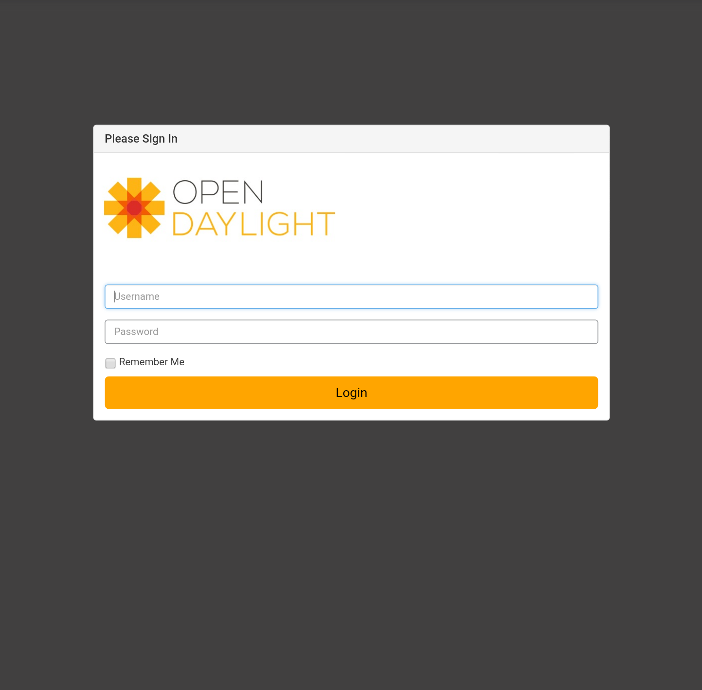 OpenDaylight DLUX Login
