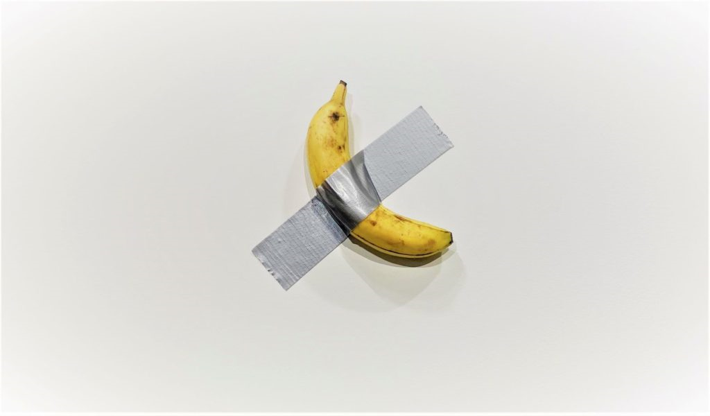 Maurizio Cattelan's Comedian from Perrotin the Gallery