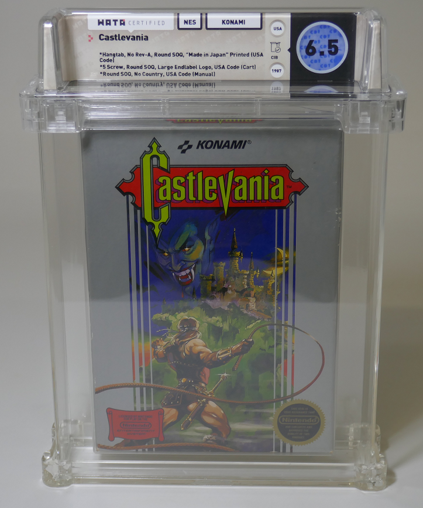 Castlevania - Large Endlabel Logo WATA graded