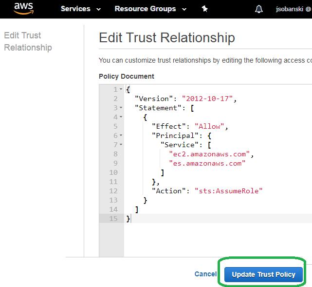 Edit Trust Relationship